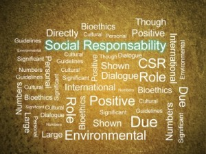 Corporate Social Responsibility In Word Collage by David Castillo Dominici