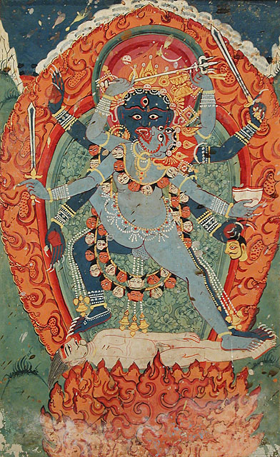 Kali and Bhairava in Union, wikimedia_commons