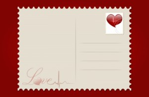 Love Postcard With Heart by jannoon028