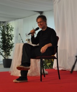 Marc Gafni talking to Ken Wilber during Summer Festival 2014