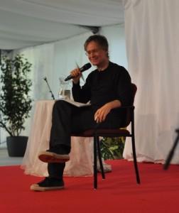 Marc Gafni talking to Ken Wilber during Summer Festival 2014