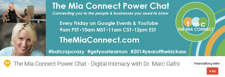 Mia Voss Hangouts: Digital Intimacy with Dr. Marc Gafni