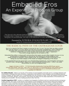 Flyer Process Group Embodied Eros 2014